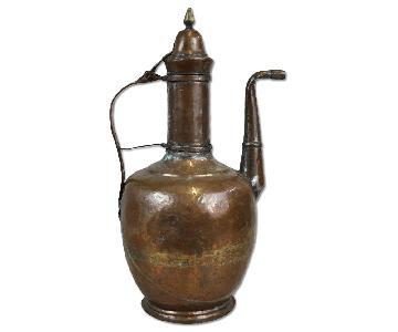 Antique Oriental Copper Water Coffee Pitcher
