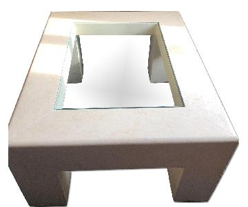 Vintage Glass Center Coffee Table