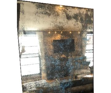 Oversized Distressed Iron Mirror