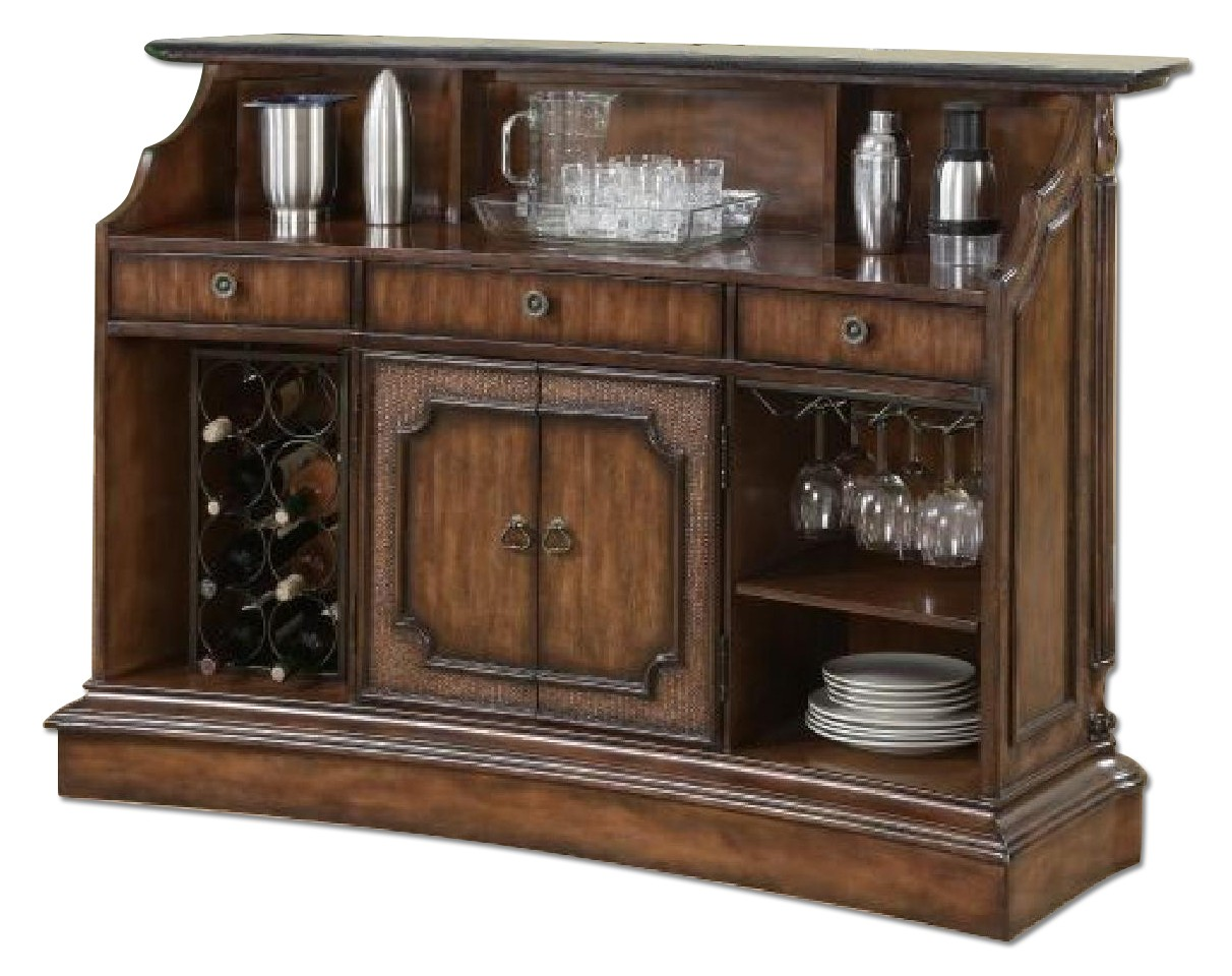 Coaster Warm Brown Classic Bar Unit