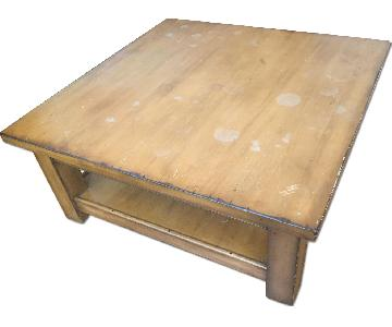 Pottery Barn Square Coffee Table