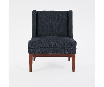 West Elm Tatum Slipper Chair in Midnight