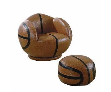 Basketball Armchair & Ottoman