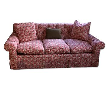 Luther Quintana Red Patterned Sofa