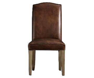 Restoration Hardware Hudson Parsons Leather Dining Chair
