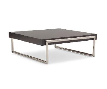 Mitchell Gold + Bob Williams Square Table in Dark Brown