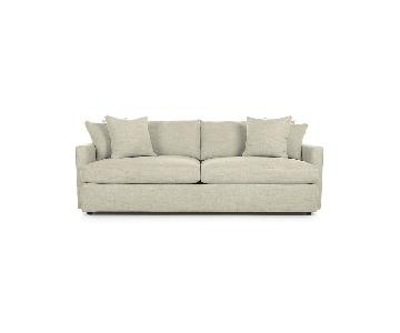 Crate & Barrel Lounge II Sofa in Cement