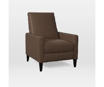West Elm Leather Sedgwick Recliner