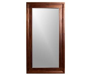 Crate & Barrel Beverly Floor Mirror in Wood w/ Walnut Finish