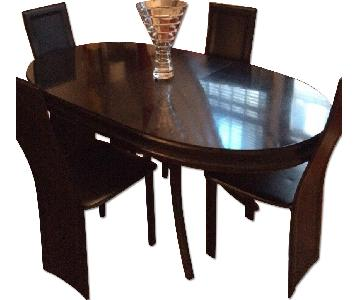 Black 5-Piece Dining Set