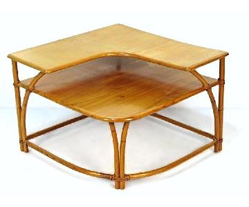 Heywood Wakefield Bamboo Maple Corner Side Table