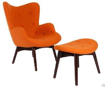 Kardiel Mid-Century Wing Chair & Ottoman