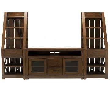 Raymour & Flanigan TV Entertainment Center w/ Bookshelves