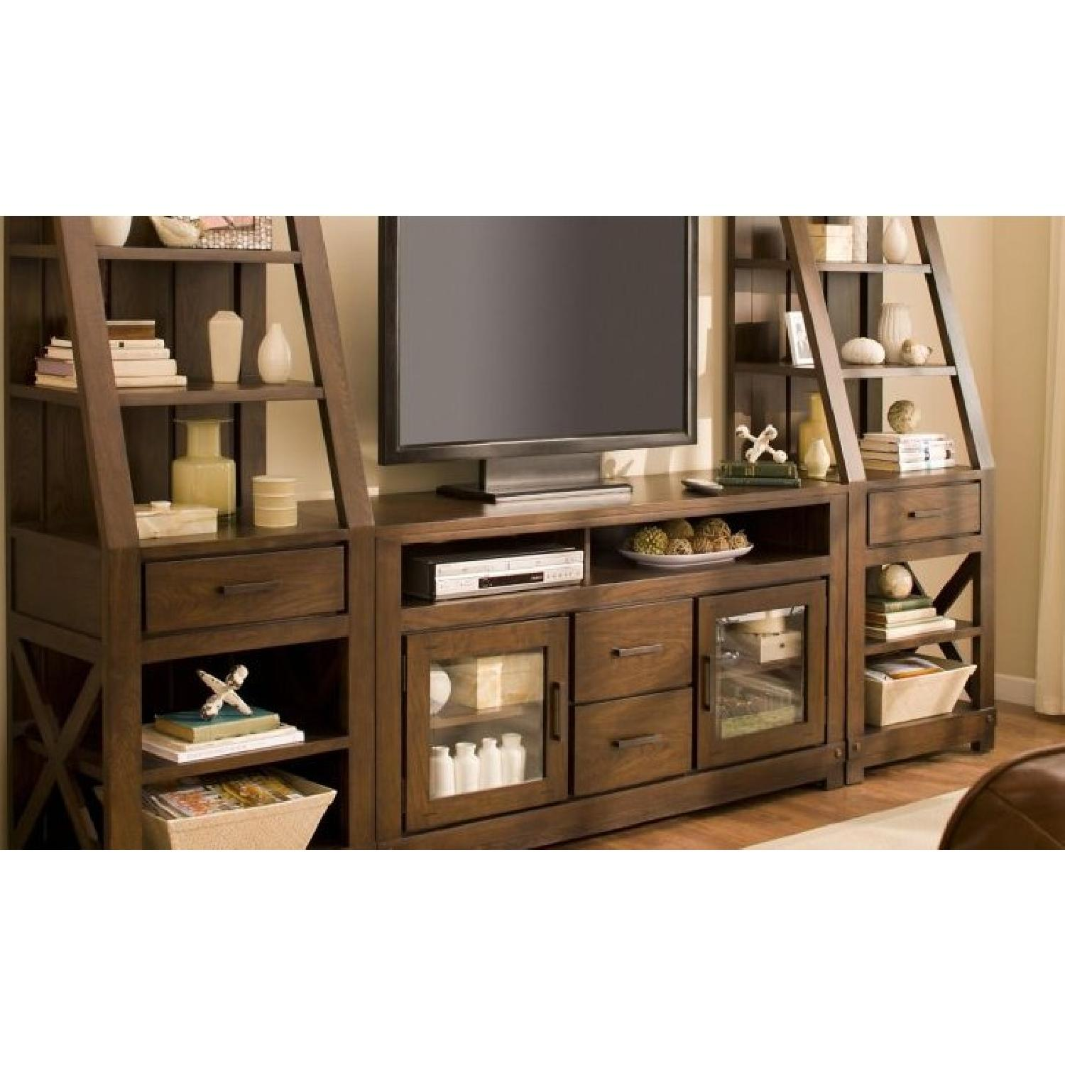 Raymour & Flanigan TV Entertainment Center w/ Bookshelves-1