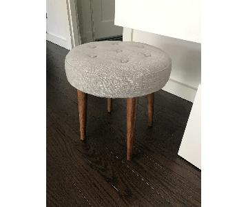 West Elm Mid-Century Upholstered Stool