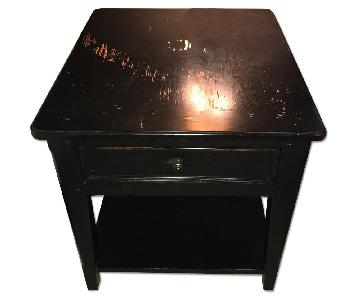 Thomasville Black Wood Side Table