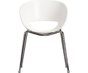 CB2 Orbit White Chair