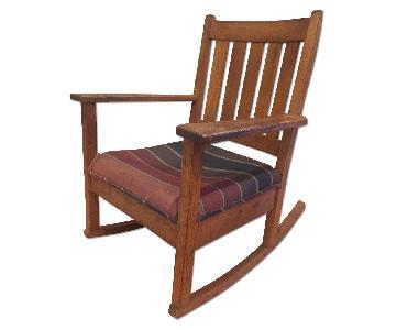 Antique Mission Oak Armchair
