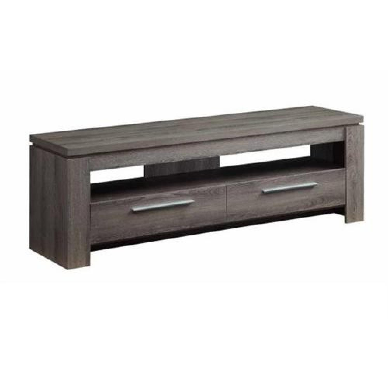 Lex Weathered TV Console In Grey