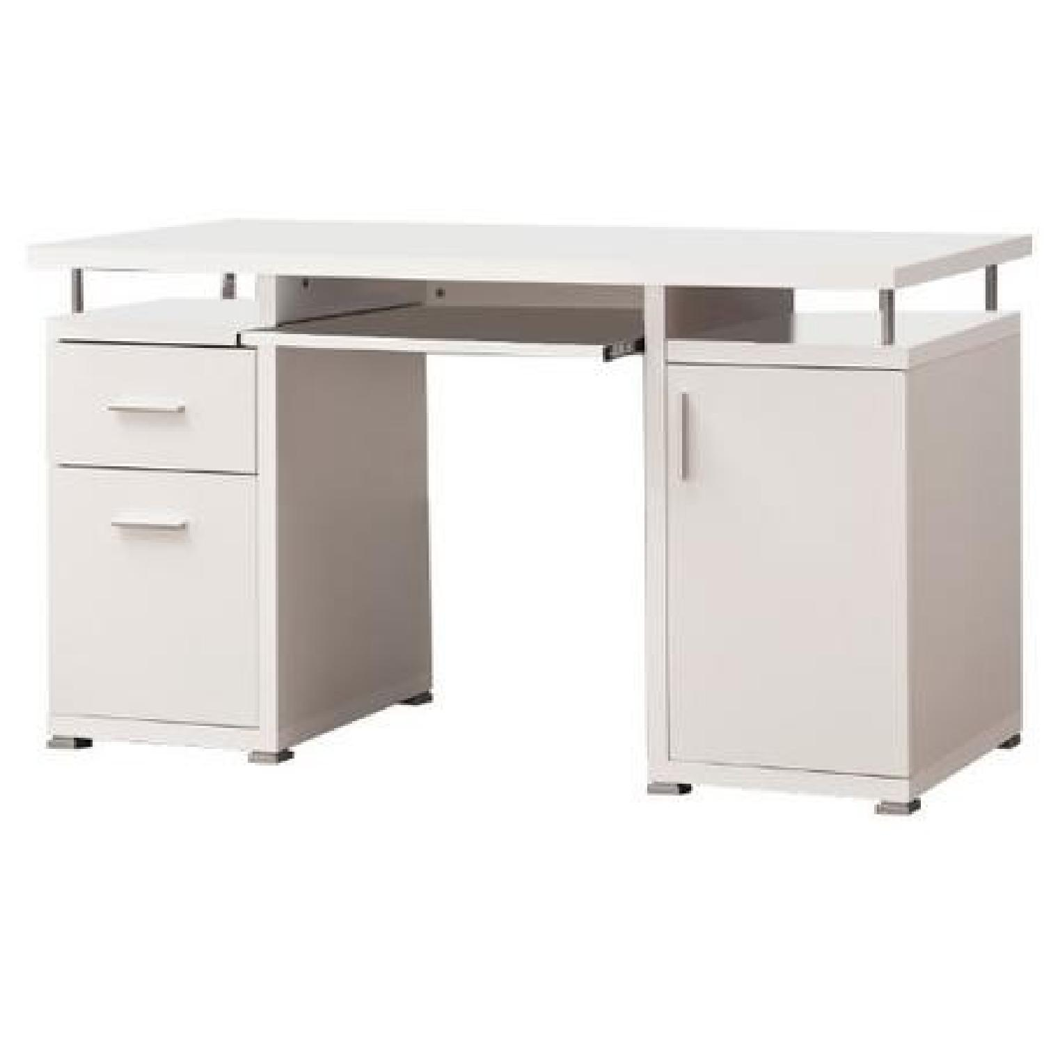 Modern Contemporary 2 Drawer 1 Cabinet Office Desk