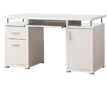 Modern Contemporary 2 Drawer 1 Cabinet Office Desk
