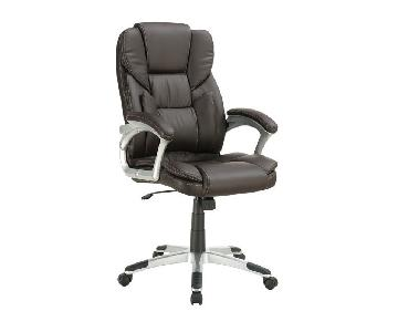 Coaster Lumbar Support Office Chair in Brown