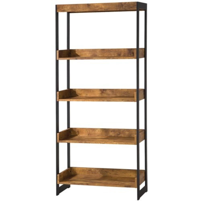 Estrella 4 Shelf Bookcase in Antique Nutmeg