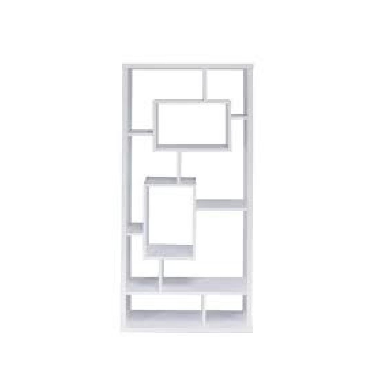 Asymmetrical Cube Book Case w/ Shelves in White