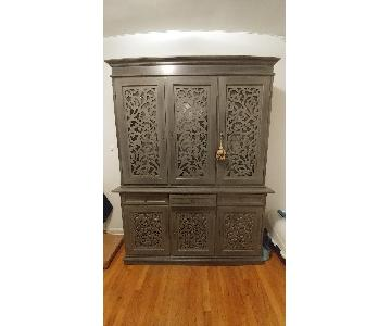 Crate & Barrel Fiori Sideboard w/ Hutch Cabinet
