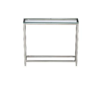 Crate & Barrel Era Metal & Glass Console Table