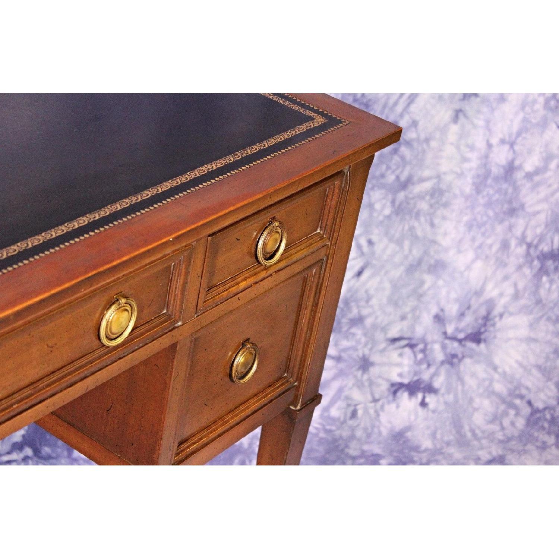 ... Sligh Furniture Leather Top Neoclassical Mid Century Desk 6 ...