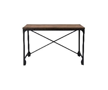 Baxton Studio Home Office Desk in Wood & Metal