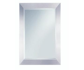 Neiman Marcus Beveled Rectangle Silver Mirror