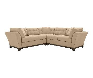 Raymour & Flanigan 3-Piece Microfiber Sectional Sofa