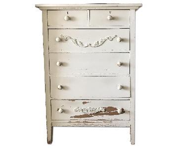 Vintage Shabby Chic 6 Drawer Dresser