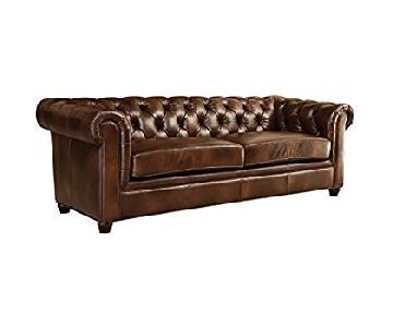 Abbyson Foyer Premium Italian Leather Sofa