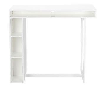 CB2 Public White High Dining Table