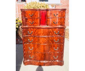 Ebert Furniture Antique Mahogany Dresser w/ Leather Front