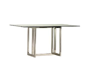 West Elm Hicks Glass Top Dining Table