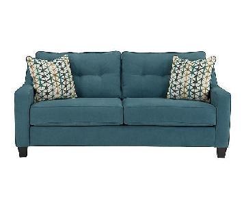 Ashley's Shayla Queen Sleeper Sofa in Teal