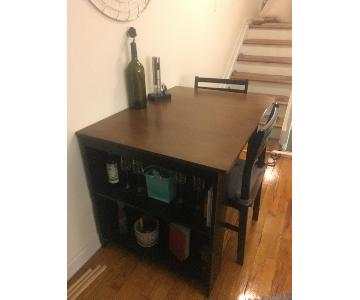 Drop-Leaf Dining Table w/ 2 Chairs