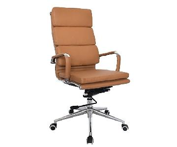 Eames Executive Office Chair in Camel Leather