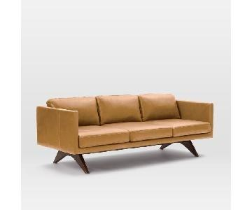 West Elm Brooklyn Leather Sofa