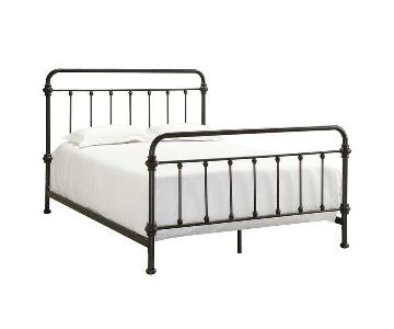 InspireQ Giselle Antique Full-Size Iron Bed Frame