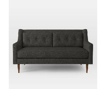 West Elm Crosby Mid-Century Loveseat