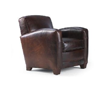 Mitchell Gold + Bob Williams Leather Club Chair