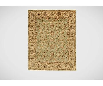 Ethan Allen Sarouk Fereghan Area Rug in Green/Ivory