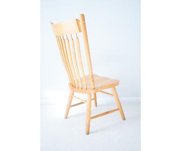 Vintage Solid American Oak Scandinavian Dining Chair