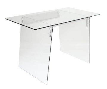 West Elm Glacier Glass Acrylic Desk