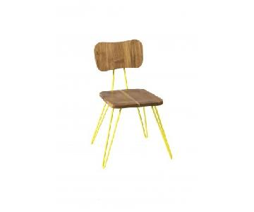 From The Source Teak & Powder Coated Metal Dining Chairs